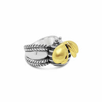 big bee ring gold silver