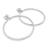 Big Hoop Earrings With Bees | 40mm Silver Myrna Hoop Earrings
