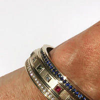 18k gold diamond sapphire and ruby birthstone bracelets