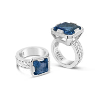 blue topaz statement rings