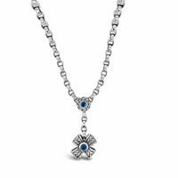 blue topaz cross necklace