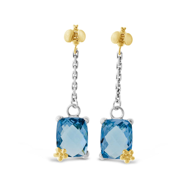 blue topaz dangle earring