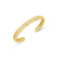 18k gold herringbone weave split back cuff bracelet