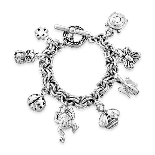 bracelet with charms silver