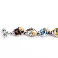 charm bracelet with colored stones