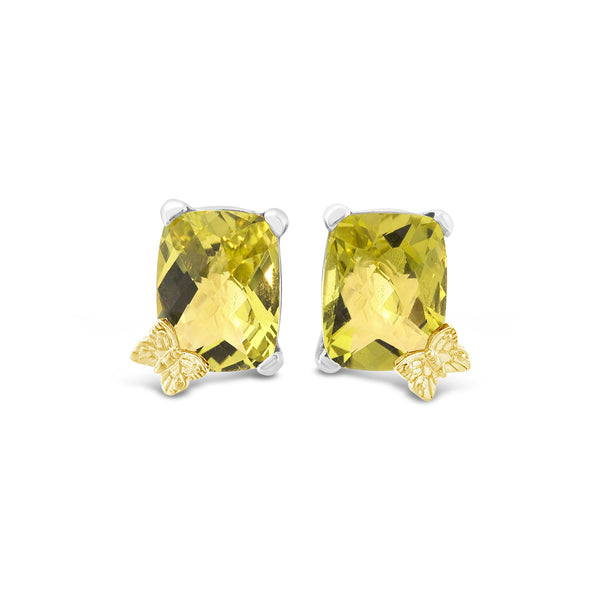 earrings with yellow stone