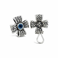 clip on cross earrings