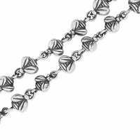 silver chain necklace with bees