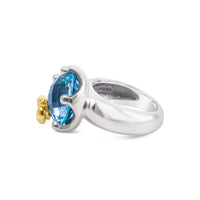 designer blue topaz ring