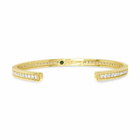 diamond birthstone cuff bracelet in 18k gold from Seneca Jewelry