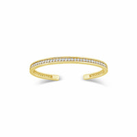 18k gold diamond tennis bracelet split back cuff bangle
