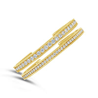 narrow diamond cuffs for April birthstone bracelets in gold