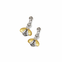 Diamond Bee Drop Earrings | Gold & Silver Devora Dazzle Hoop Earring