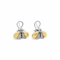silver and gold bee earrings