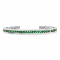 green stone bracelet white gold