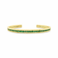 emerald tennis bracelet yellow gold
