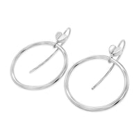 silver hoop earrings with hearts