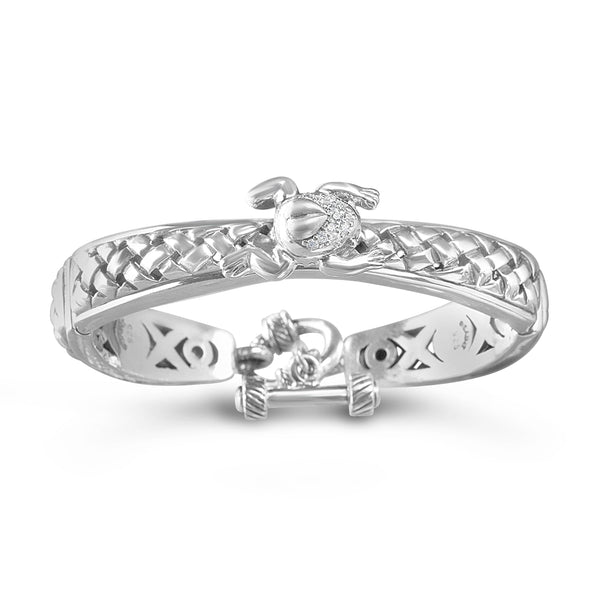 frog bracelet silver with diamonds