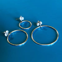 front facing silver hoop earrings