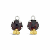 garnet charms for hoop earrings