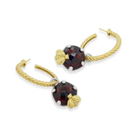 garnet earring charms