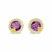 gold amethyst earrings