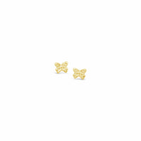 gold butterfly earring