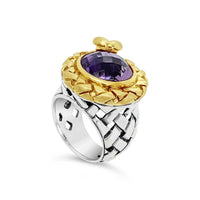 gold purple stone ring