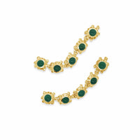 earrings with green stones