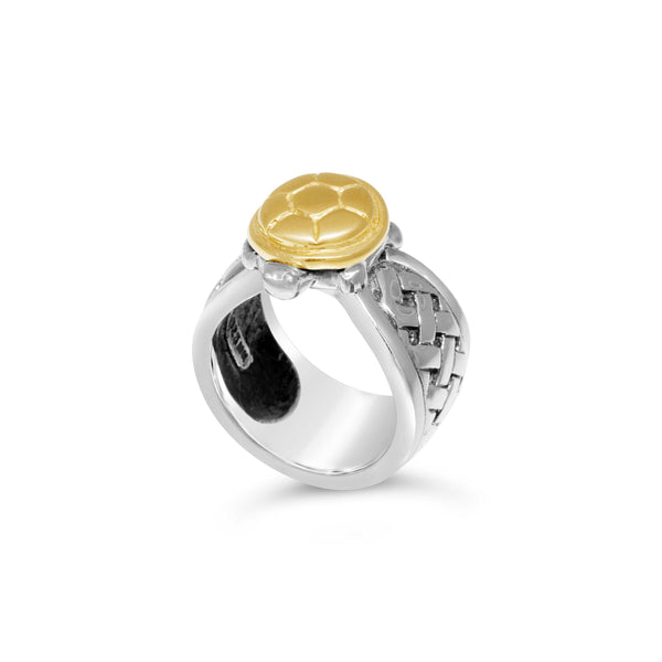 gold turtle ring