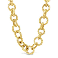 gold woven link chain necklace