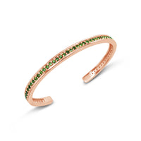 rose gold bracelet with green tourmaline