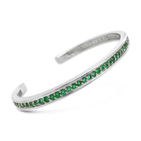 emerald bracelet white gold