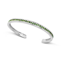 white gold bracelet with green tourmaline