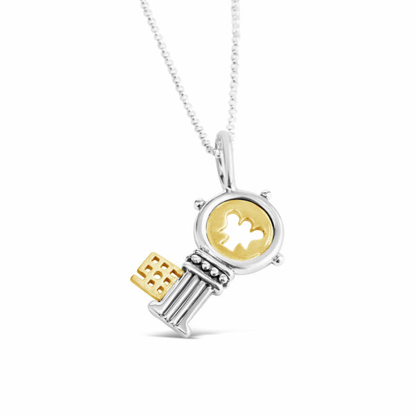 key pendant gold