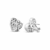 heart clip-on earrings silver