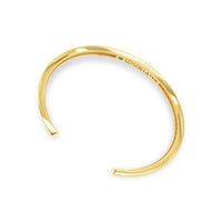 thin split back cuff bangle bracelet 18k gold