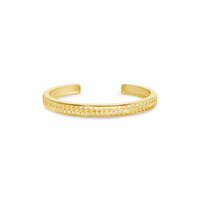 18k gold braided open back cuff bangle bracelet