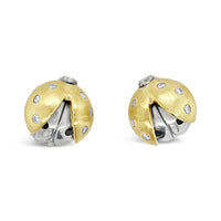 ladybug diamond earrings
