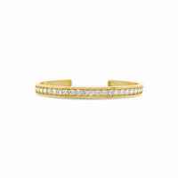 april birthstone cuff with large diamonds in yellow gold