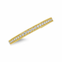 narrow diamond cuff with high carat weight in 18k gold