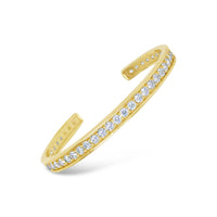18k gold and large diamond anniversary cuff bracelet