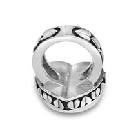 big love heart statement ring in sterling silver