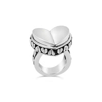 big heart statement ring in sterling silver