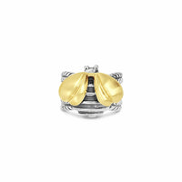 large bumble bee ring gold silver