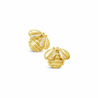 diamond bee earring gold