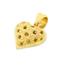 large gold heart pendant
