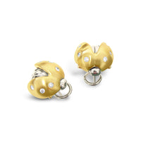 gold ladybug earrings