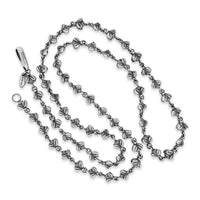 long chain necklace with silver bees