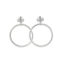 medium size hoop earrings silver